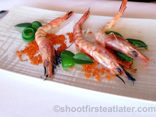 Akelare's Aranori menu - prawns & French beans cooked in