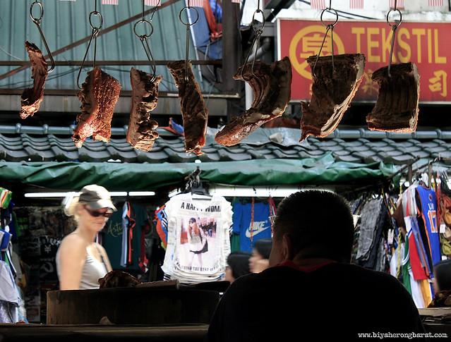 Meat for sale in Chinatown Kuala Lumpur Malaysia