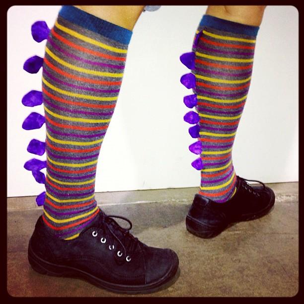 I made #stegosaurus #socks for @theimperfectprinter! Happy birthday Elke!