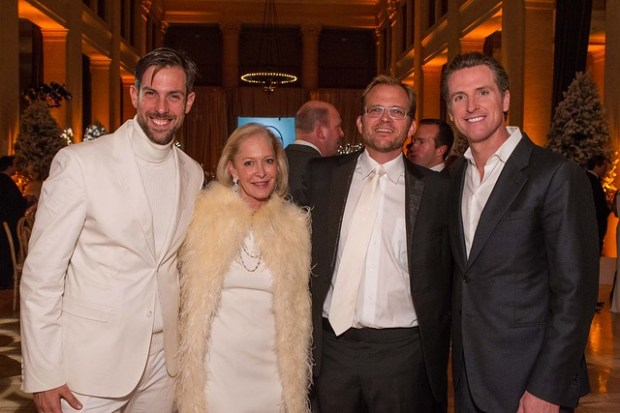 Lewis Perkins, Wendy Schmidt, Matt Petersen, The Honorable Gavin Newsom