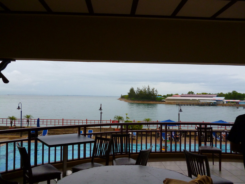 View from lobby at Kudat Golf & Marina Resort (again)