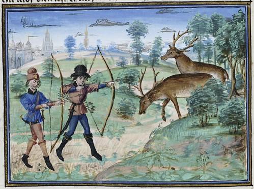 15th century illuminated manuscript miniature: Henri de Ferrières, Les Livres du roy Modus et de la royne Ratio 91