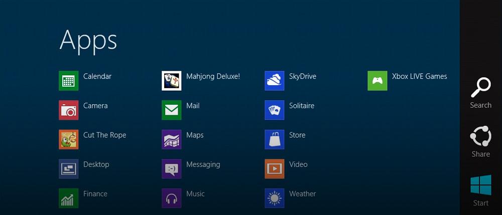 Charms en Windows 8