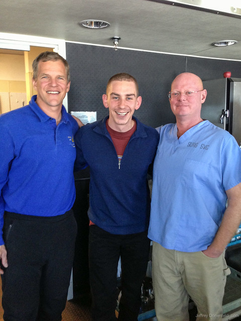 Jeffrey Donenfeld with Scott E. Parazynski and Sean Roden