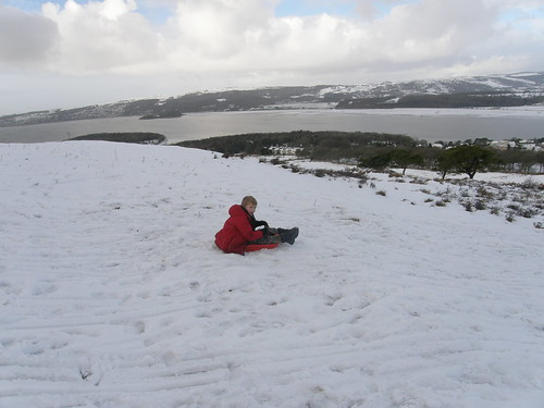 At the top of 'the sledging field'.