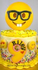 """Nerd Emoji cake 6"""""""