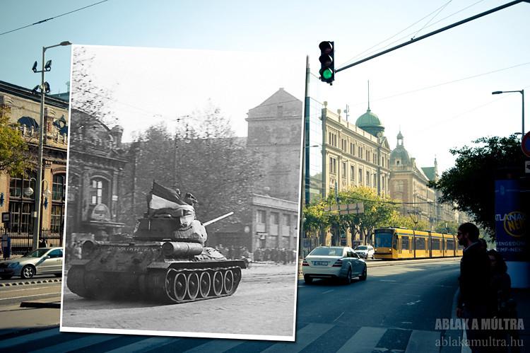 Budapest, VI. Teréz (Lenin) körút, a Nyugati pályaudvartól a Podmaniczky utca felé nézve fortepan_23694