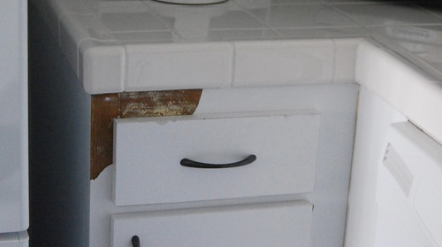 Kitchen cabinet damage