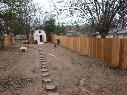12-14-12 TX - Austin, Backyard Fence 1