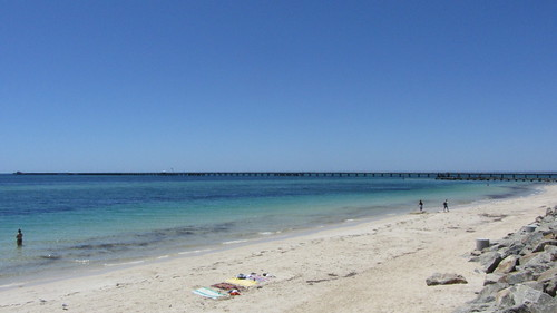 busselton jetty from afar