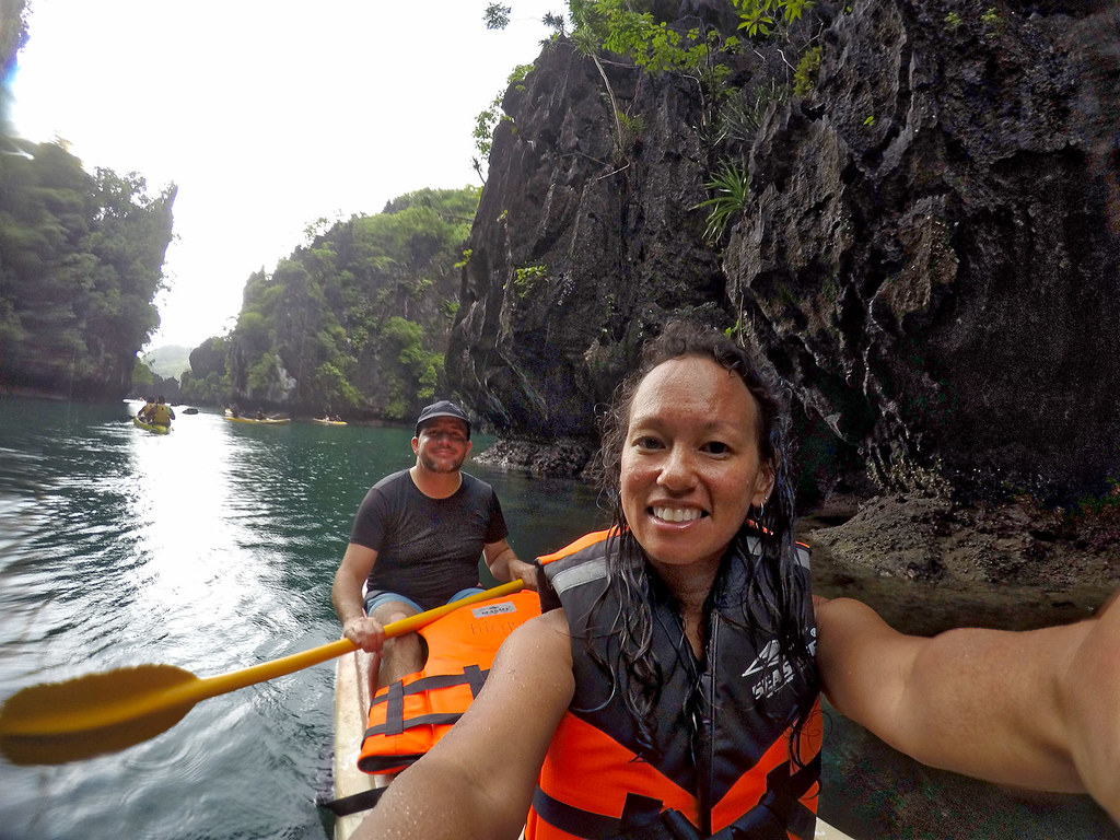 Kayak selfie in the Big Lagoon.