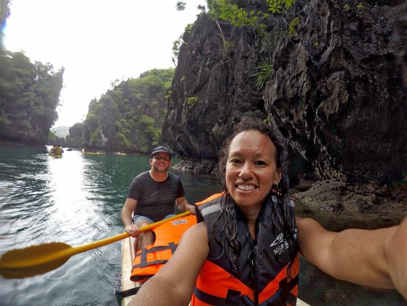 Kayak selfie in the Big Lagoon.