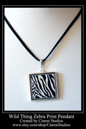ZebraPrint Pendant
