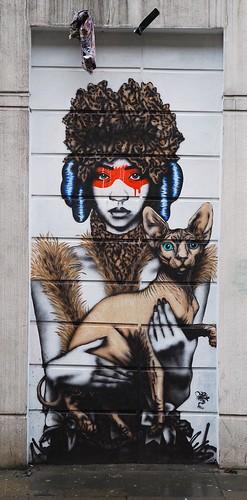 Graffiti, off Brick Lane, London, England.