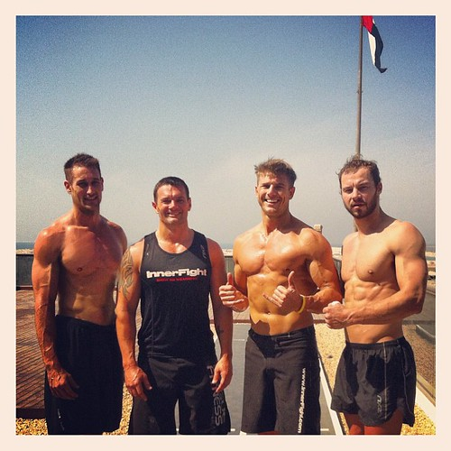 Awesome to have Ben from #muscat with us! That was a solid workout. #team #innerfight #respect #legends