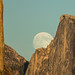 Moon Rise Between Half Dome and El Capitan