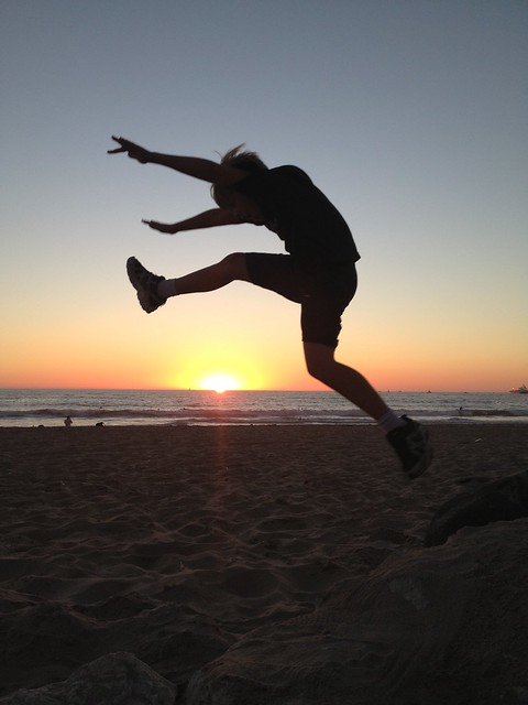 Who said you can't jump over the sunset?