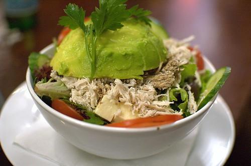 Greek garden salad + chicken