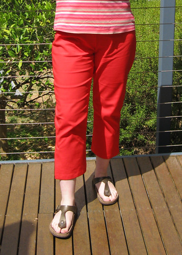 StyleARC Tori crop pants - orange