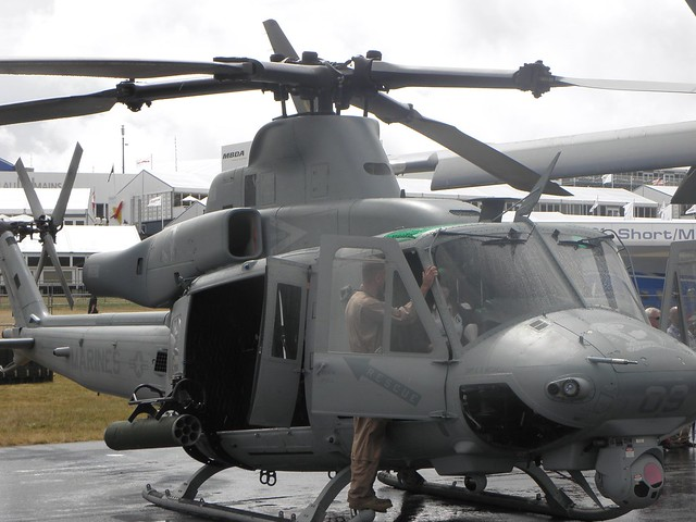 Getting into a US Marines helicopter