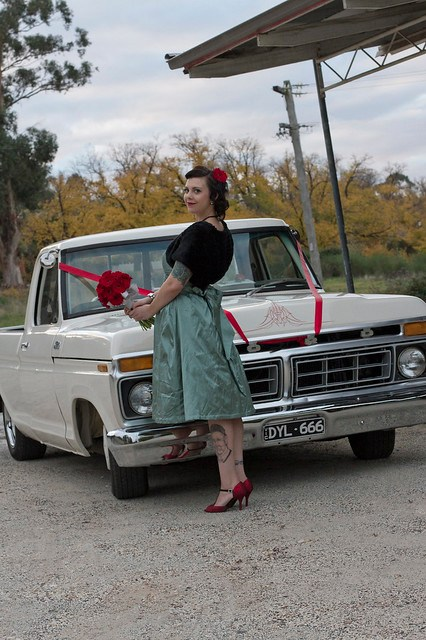 Jacinta in front of the F100
