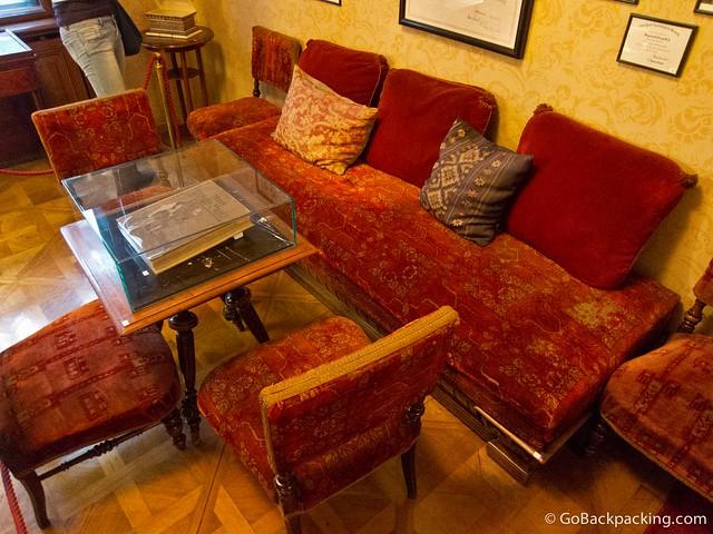 Furniture inside the Freud Museum