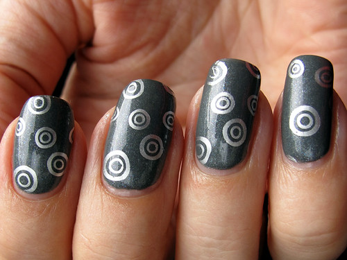 China Glaze Immortal w/ Barry M Silver Foil stamping