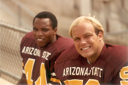 1980 ASU Football - Willie Gittens and Bryan Caldwell by SearchNetMedia