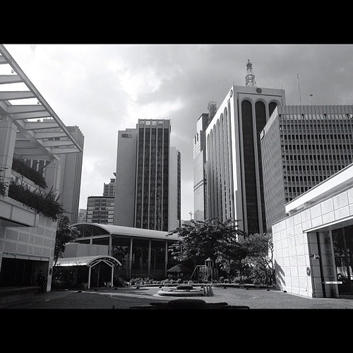 Urban Jungle. Taken 10.18.12. Makati City, Philippines. #iphone4s #photographyeveryday #blackandwhite #monochrome #awesomeshots #igersasia #igersmanila #instagood #instamood #instaphilippines #philippines #manila #makati #cityscape #urbanliving #skyline #