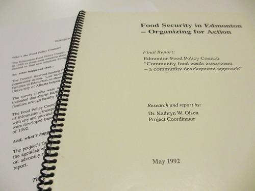 Edmonton Food Policy Council Report