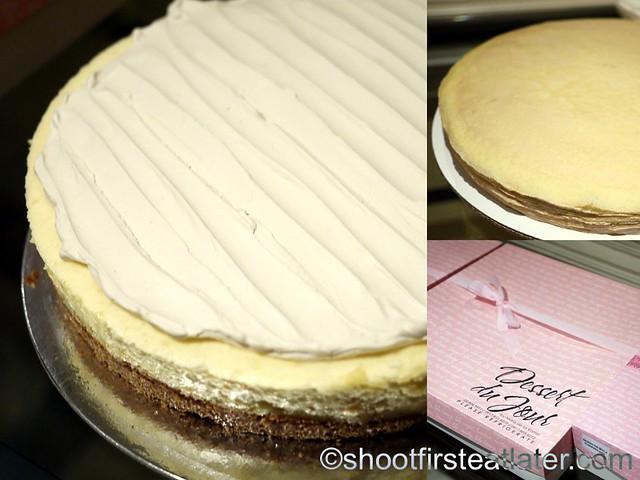 Dessert Du Jour's queso de bola cheesecake & nutella gateau crepe