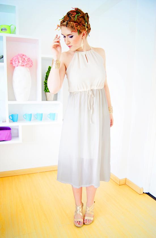 a1789df6c3772 The Joy of Fashion DIY Halloween Costume Medusa - White Dress Halloween  Costume Ideas