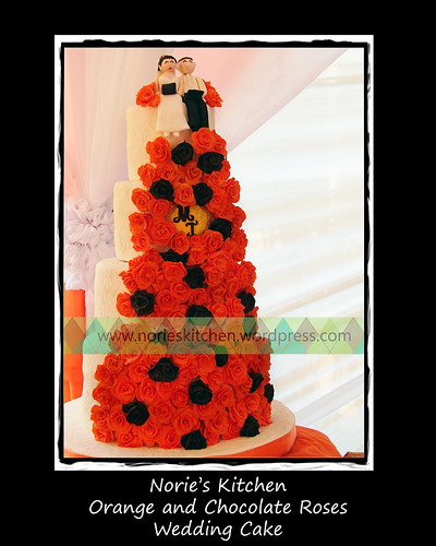 Norie's Kitchen - Orange and Chocolate Roses Wedding Cake by Norie's Kitchen