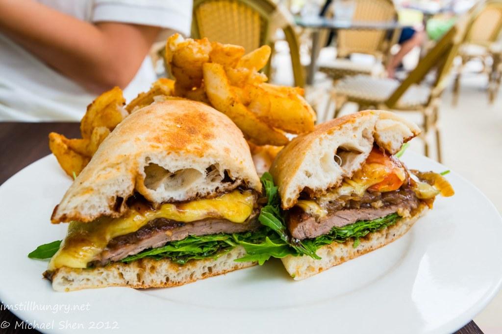 Weir Café - steak sandwich