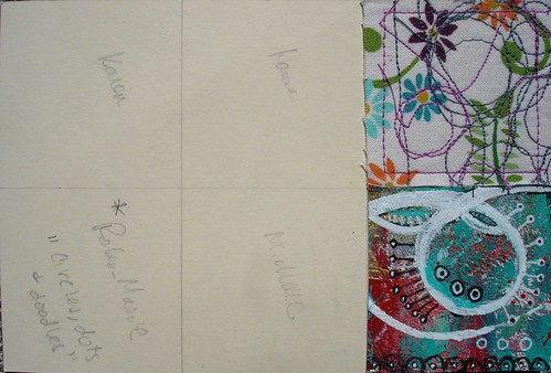 Millenium Mail Art Swap 2013: Circles, dots and doodles