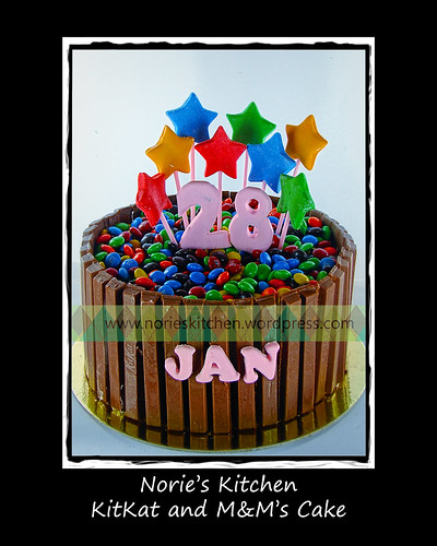 Norie's Kitchen - Kitkat and M&M's Cake by Norie's Kitchen