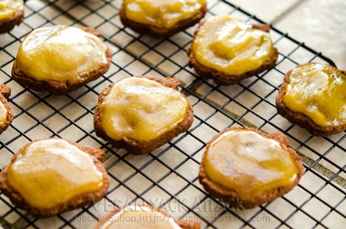 Gluten-free Spiced chocolate cookies with pumpkin icing are a sweet treat that is great for Fall, and are kid-friendly!
