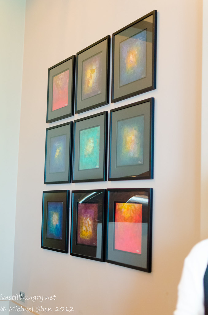 9 smaller pieces of abstract art