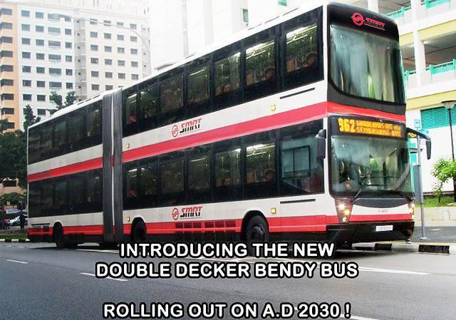 Super double deck bendy bus