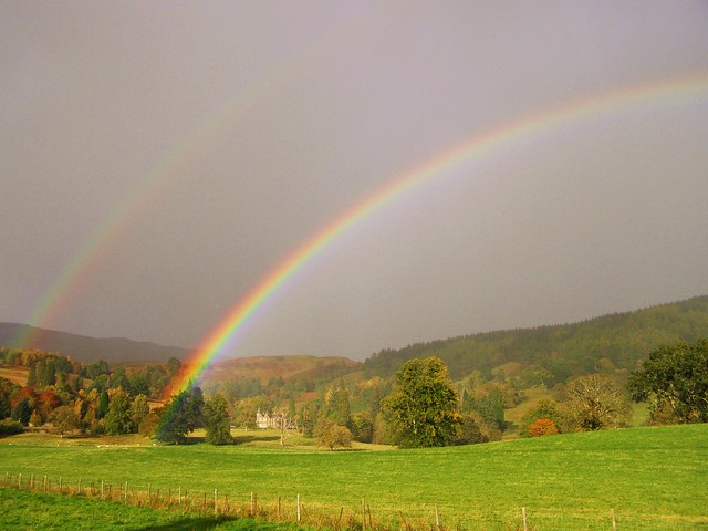 Rainbows in the Scottish Highlands
