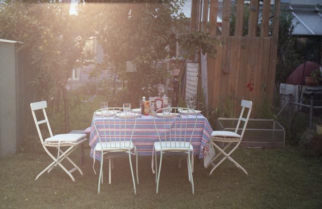 garden dinner