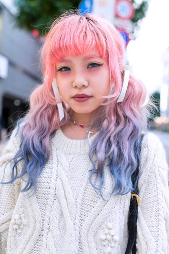 Pink Eyebrows in Shibuya