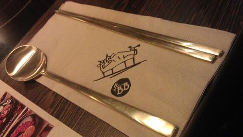Bulgogi Brothers silverware spoon and chopsticks