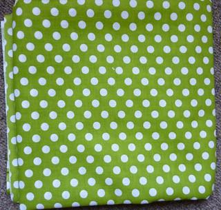 dotty green fabric