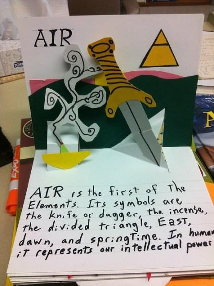 Elemental Pop-up book: Air