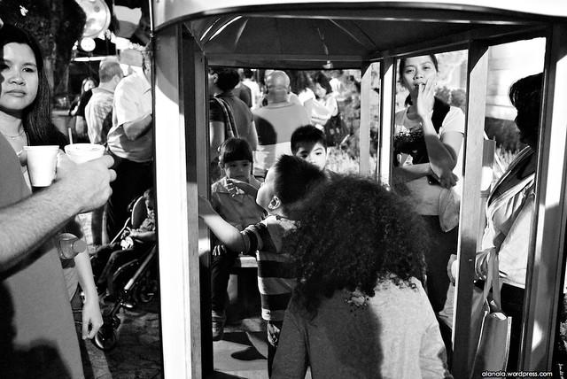Kids in a tram - Festival da Lusofonia
