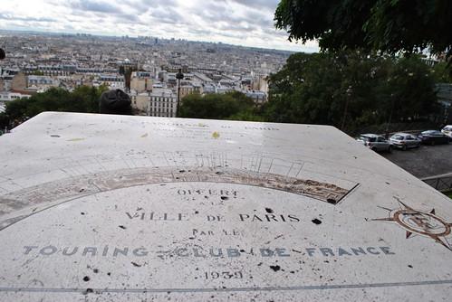 Paris - Sacre Coeur - Map of the Skyline