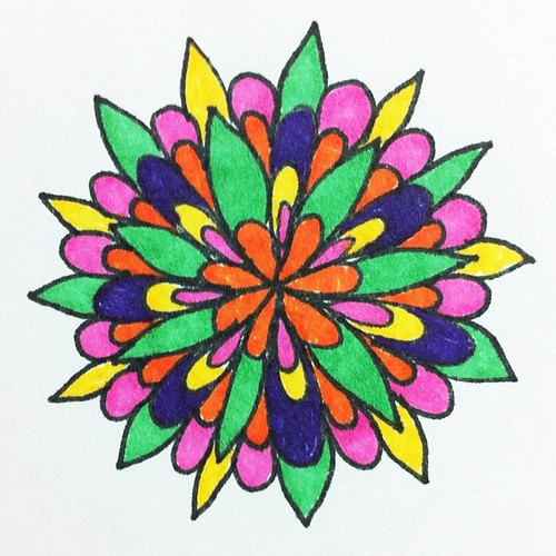 Sharpie doodle. Day 14 of my 30 day challenge. diysara.com