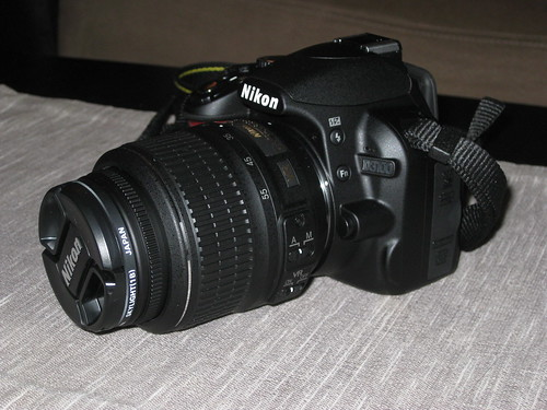 My new Nikon D3100 with 18-55mm DX VR lens