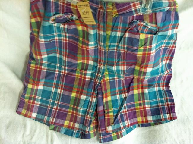 halloween costume golf thrift plaid shorts
